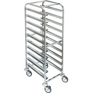 Шпилька для EN, 10 уровней, одинарная, открытая, нерж.сталь 304, колеса, сварная, направляющие по длинной стороне