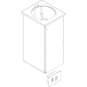 Диспенсер для тарелок подогреваемый, L0.40м, 1 цилиндр 50шт. (D220-270мм), встраиваемый, выносной пульт