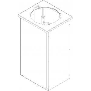 Диспенсер для тарелок нейтральный, L0.40м, 1 цилиндр 50шт. (D220-270мм), встраиваемый