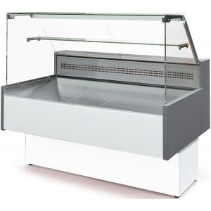 Витрина морозильная напольная, горизонтальная, L1.77м, -18/-12С, стат.охл., без щитков, стекло фронтальное прямое