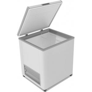 Ларь морозильный, 205л, 1 крышка глухая плоская распашная, -12/-25С, 1 корзина, колеса, белый, R134a