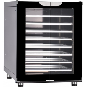 Шкаф расстоечный,  8х(460х330/435х320), 2 двери распашные стекло, +30/+85С, эмалир., 220V, электромех.упр., увлажнение