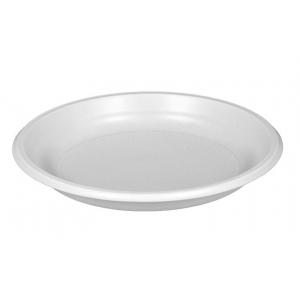 Тарелка 205мм столовая пластик белый