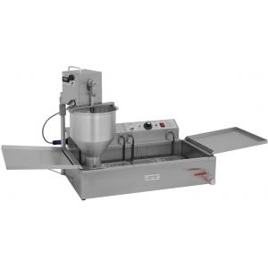 Аппарат пончиковый полуавтоматический,  300шт/ч, ванна 12л, нерж.сталь+алюминий, вес пончика 40-60г, плунжерная пара D40мм, привод автоматический