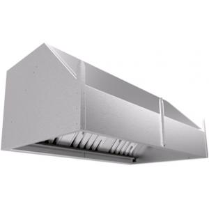 Зонт вытяжной пристенный,  900х700х450мм, нерж.сталь, лаб.фильтры, без подсветки, отверстие