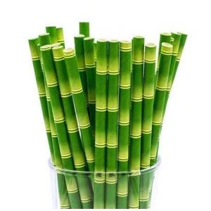Трубочки для напитков бумажные D 6мм L 197мм бамбук