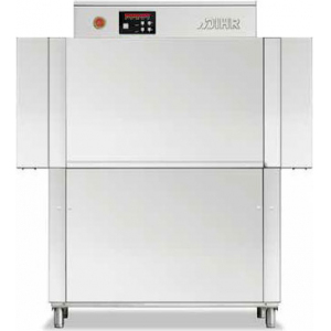 Машина посудомоечная конвейерная, 500х500мм,  70-100кор/ч, реверсивная, левая, теп.вода, без дозаторов, защита от брызг с 2-х сторон