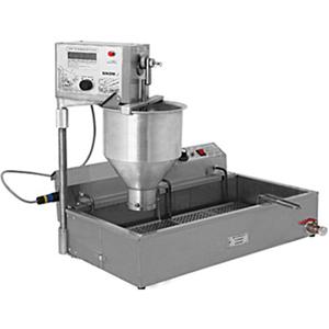 Аппарат пончиковый полуавтоматический,  300шт/ч, ванна 12л, нерж.сталь+алюминий, вес пончика 20-54г, плунжерная пара D30мм, привод автомат., фиск.пам.