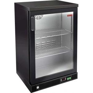 Шкаф холодильный для напитков (минибар), 142л, 1 дверь распашная стекло, 2  полки,  +2/+8 С, дин.охл., черный