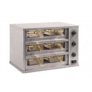 Мультихолдер (шкаф-мармит), 3 ячейки, общая вместимость 6GN1/3x65, электромех. регулировка температуры, блок упр.справа