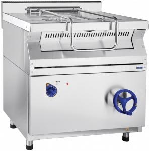 Сковорода электрическая опрокидываемая,  40л, опрокидывание ручное, нерж.сталь, задняя обшивка краш.сталь, 700 серия, дно композит