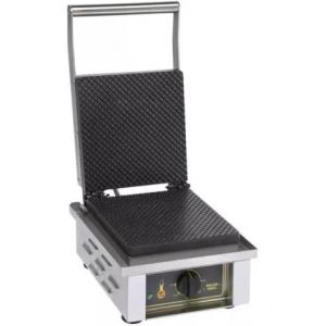 Вафельница электрическая настольная для вафель «датская решетка», 1 поверхность квадратная чугун, упр.электромех.