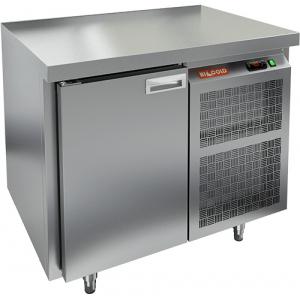 Стол морозильный, GN2/3, L0.90м, без борта, 1 дверь глухая, ножки, -10/-18С, нерж.сталь, дин.охл., агрегат справа