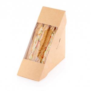Коробка для сэндвича 130x130x60мм картон крафт