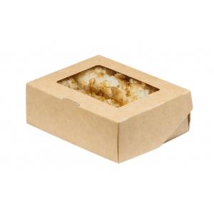 Коробка универсальная с окном 300мл бумага крафт
