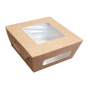 Коробка универсальная 2 окна 400мл бумага крафт