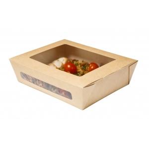 Коробка универсальная 2 окна 1000мл бумага крафт