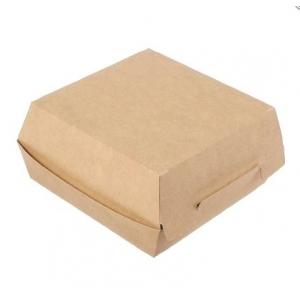 Коробка для гамбургера 100x100x60мм Крафт