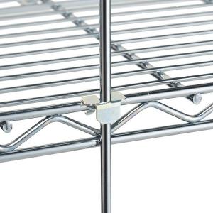 Стержень ограничительный для стеллажа, H1.55м, сталь с покрытием хромоникелевым, для сухих помещений