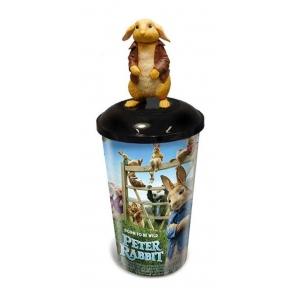 Стакан пласт. д/напитков «Кролик Питер 2», 0.5л, крышка, трубочка/ IML plastic cup 0,5 L «Peter Rabbit 2»