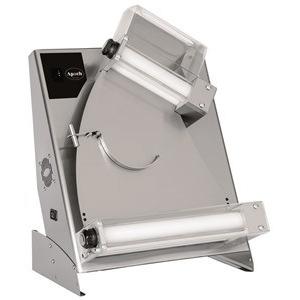 Тестораскатка электрическая настольная, длина роликов 300мм, управление ручное, ролики наклонные, зазор 1-4мм, нерж.сталь, 220В