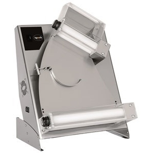 Тестораскатка электрическая настольная, длина роликов 400мм, управление ручное, ролики наклонные, зазор 1-4мм, нерж.сталь, 220В