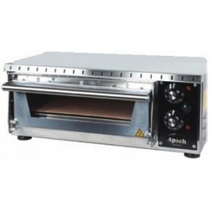 Печь для пиццы электрическая, подовая, 1 камера  350х410х75мм, 1 пицца D340мм, электромех.управление, дверь стекло, под камень, боковины нерж.сталь