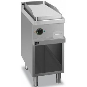 Гриль-сковорода электрическая, 1 зона, поверхность гладкая стальная, стенд полузакрытый без дверей