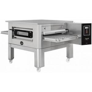 Печь для пиццы электрическая, конвейерная, 1 камера 500х750х100мм, электронное управление, нерж.сталь, подставка передвижная
