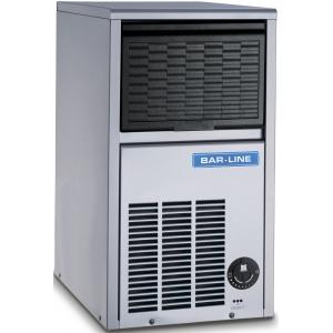 Льдогенератор для кускового льда,  20кг/сут, бункер 6.0кг, вод.охлаждение, корпус нерж.сталь, форма «кубик»