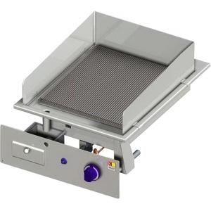 Гриль-сковорода электрическая, 1 зона, поверхность рифленая чугун, встраиваемая