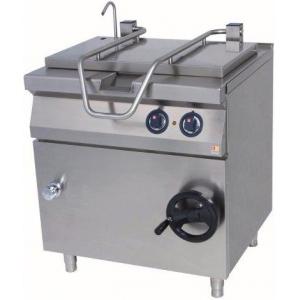 Сковорода опрокидываемая электрическая,  40л, ручное опрокидывание, нерж.сталь, чаша чугун