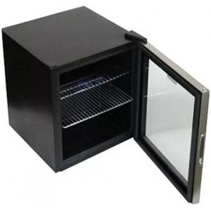 Шкаф холодильный для напитков (минибар),  49л, 1 дверь стекло, 2 полки, ножки, +5/+20С, стат.охл., черный