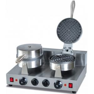 Вафельница электрическая настольная для вафель «бельгийских», 2 поверхности круглые (D180мм) чугун, 8 сегментов, упр.электромех.