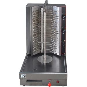 Гриль для шаурмы электрический, загрузка 30кг, 1 вертикальный шампур, 2 ТЭНа, нержавеющая сталь, 380В