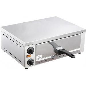 Печь для пиццы электрическая, подовая, 1 камера  370x350x138мм, 1 пицца D300мм, электромех.управление, дверь глухая выдвижная