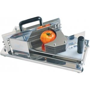 Овощерезка-слайсер механическая для томатов, настольная, срез 5.5мм, нерж.сталь, горизонтальная резка