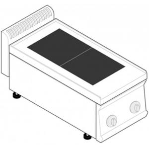 Плита электрическая, 2 конфорки квадратные чугун, настольная