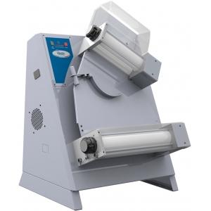 Тестораскатка электрическая настольная, длина роликов 310мм, управление ручное, ролики наклонные, зазор 1-4мм, нерж.сталь