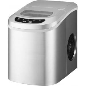 Льдогенератор для кускового льда,  12кг/сут, бункер 0.7кг, возд.охлаждение, корпус пластик, форма «пальчик», настольный, заливной
