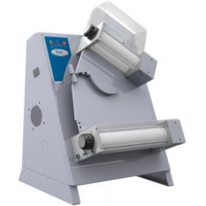 Тестораскатка электрическая настольная, длина роликов 420мм, управление ручное, ролики наклонные, зазор 1-4мм, нерж.сталь