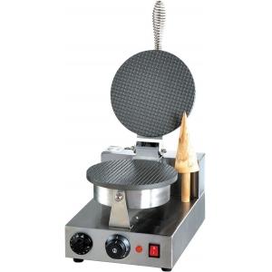 Вафельница электрическая настольная для вафель «датская решетка», 1 поверхность круглая алюминий антипригарный, упр.электромех., таймер