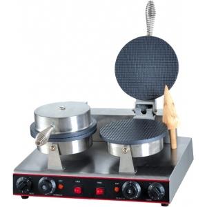 Вафельница электрическая настольная для вафель «датская решетка», 2 поверхности круглые алюминий антипригарный, упр.электромех., таймер