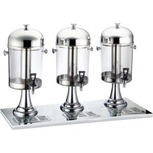 Диспенсер для сока, 3 ванны по 8л, 3 трубки для льда