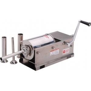 Аппарат для набивки колбас механический настольный, бункер  3л, горизонтальный, нерж.сталь, 4 насадки