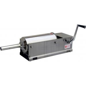 Аппарат для набивки колбас механический настольный, бункер  5л, горизонтальный, нерж.сталь, 4 насадки