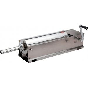 Аппарат для набивки колбас механический настольный, бункер  7л, горизонтальный, нерж.сталь, 4 насадки