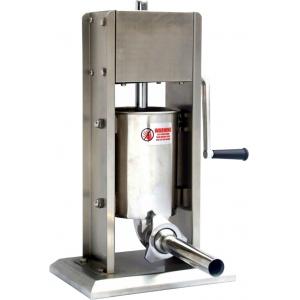 Аппарат для набивки колбас механический настольный, бункер  3л, вертикальный, нерж.сталь, 4 насадки