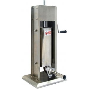 Аппарат для набивки колбас механический настольный, бункер  5л, вертикальный, нерж.сталь, 4 насадки