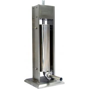 Аппарат для набивки колбас механический настольный, бункер  7л, вертикальный, нерж.сталь, 4 насадки